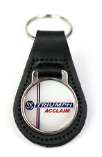 Triumph Acclaim Leyland Logo Quality Black Leather Keyring