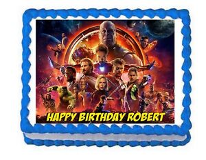 Avengers Infinity War Party Edible Cake Image Cake Topper Frosting