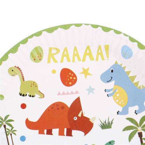 10 stücke Dinosaurier thema pappteller einweg pappbecher geburtstag party dec Hs