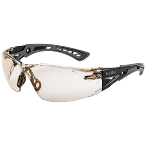 Bolle-Rush-Plus-Safety-Glasses-Black-Gray-Temples-CSP-Anti-Fog-Lens
