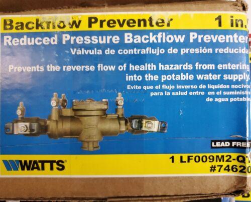 """Watts 1/"""" LF009M2-QT conjunto de zona de presión reducida libre de plomo reflujo prevención"""
