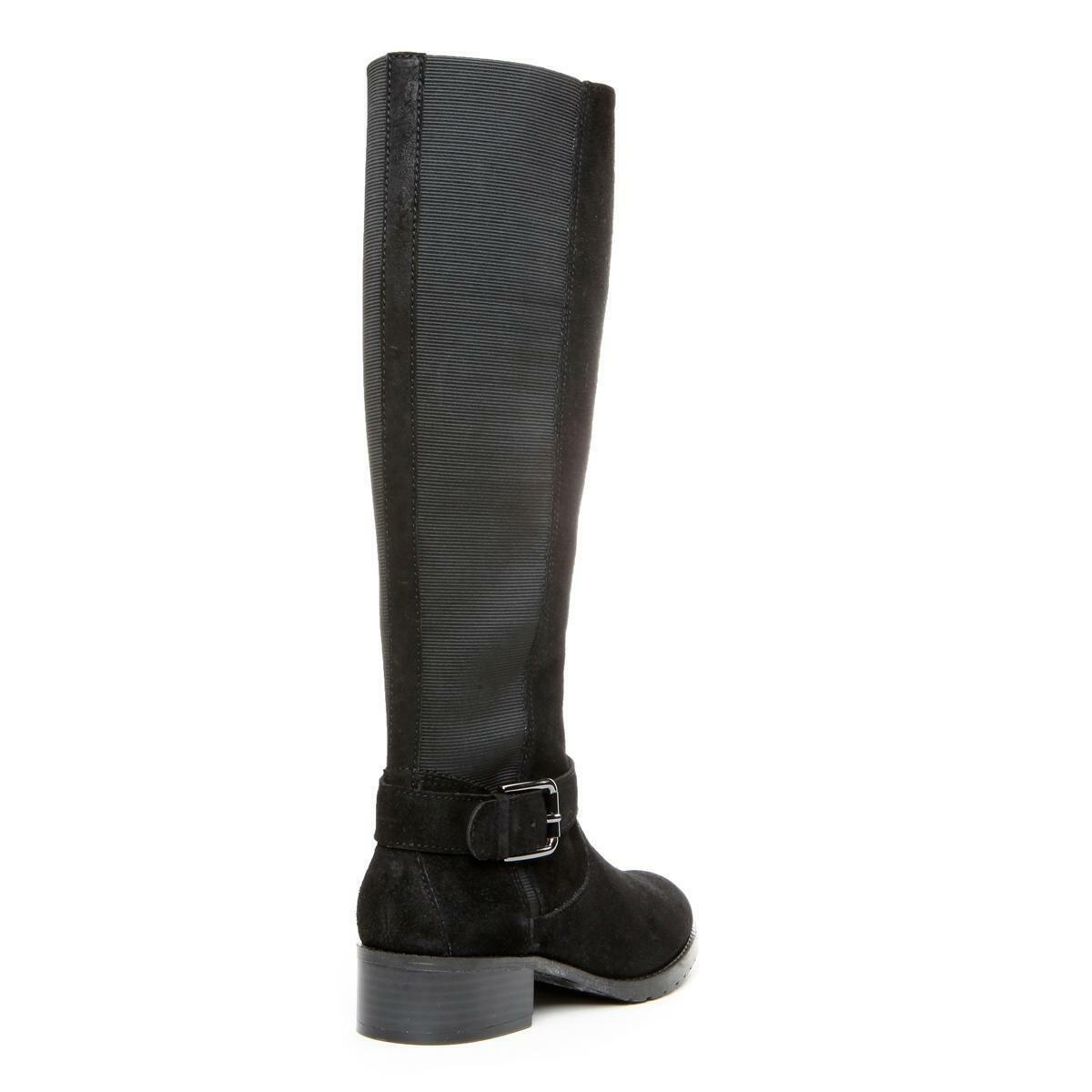 Donald J Pliner Beso Suede Suede Suede Riding Boot Knee-High Tall Black 6 New  328 03b3a8