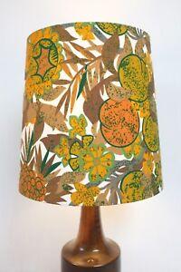 Original-Sanderson-Fabric-Conical-Lampshade-Paw-Paw-Retro-Yellow-Brown