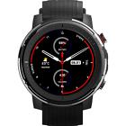"""Amazfit Stratos 3 1.34"""" Cassa in Acciaio Nera, Cinturino in Silicone Nero, Unisex Smartwatch"""