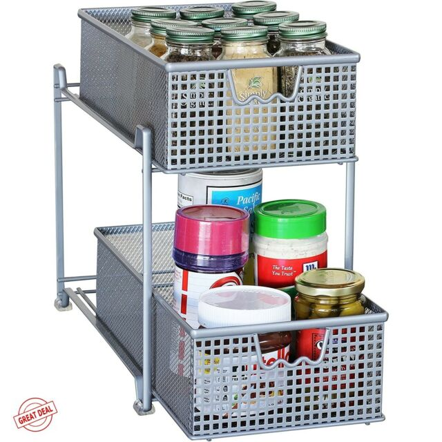 Rubbermaid Small Drawer Under Shelf Pull Out Storage Kitchen Pantry 1780725 For Sale Online Ebay