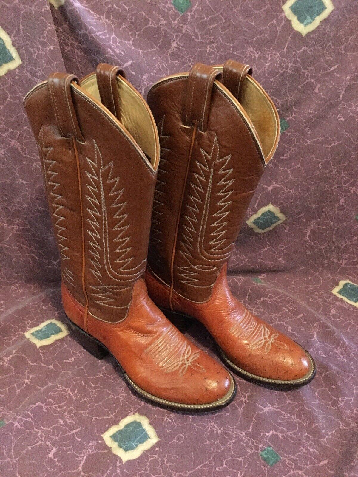 Pequeño Tony lama ostrich botas de vaquero para mujer