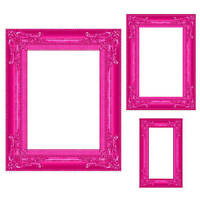 Pink Frame Photo Prop Set Of 3 You Will Receive Three Cardboard Props