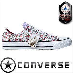 CONVERSE-ALL-STAR-CHUCKS-EU-39-5-UK-6-5-FLOWER-OX-FLACHE-SCHUHE-LIMITED-EDITION