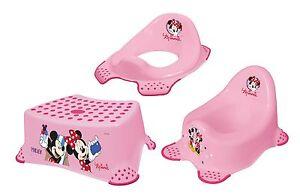 Disney minni maus 3er set kindertopf wc aufsatz hocker