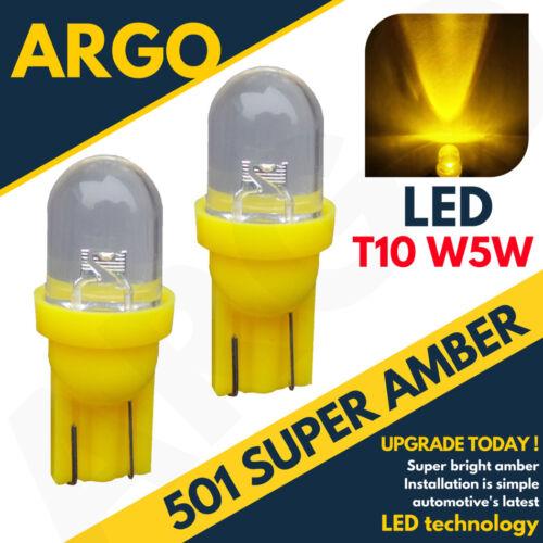 1 LED XENON AMBER 501 T10 W5W SIDELIGHT BULBS JAGUAR XJ SALOON XJR