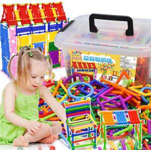 Magic-Wand-3D-Construction-Building-Block-Toy-500-Piece-Set-amp-Storage-Box