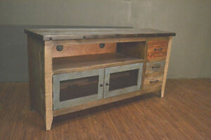 Industrial Rustic Reclaimed Wood 62 Inch Tv Stand Media