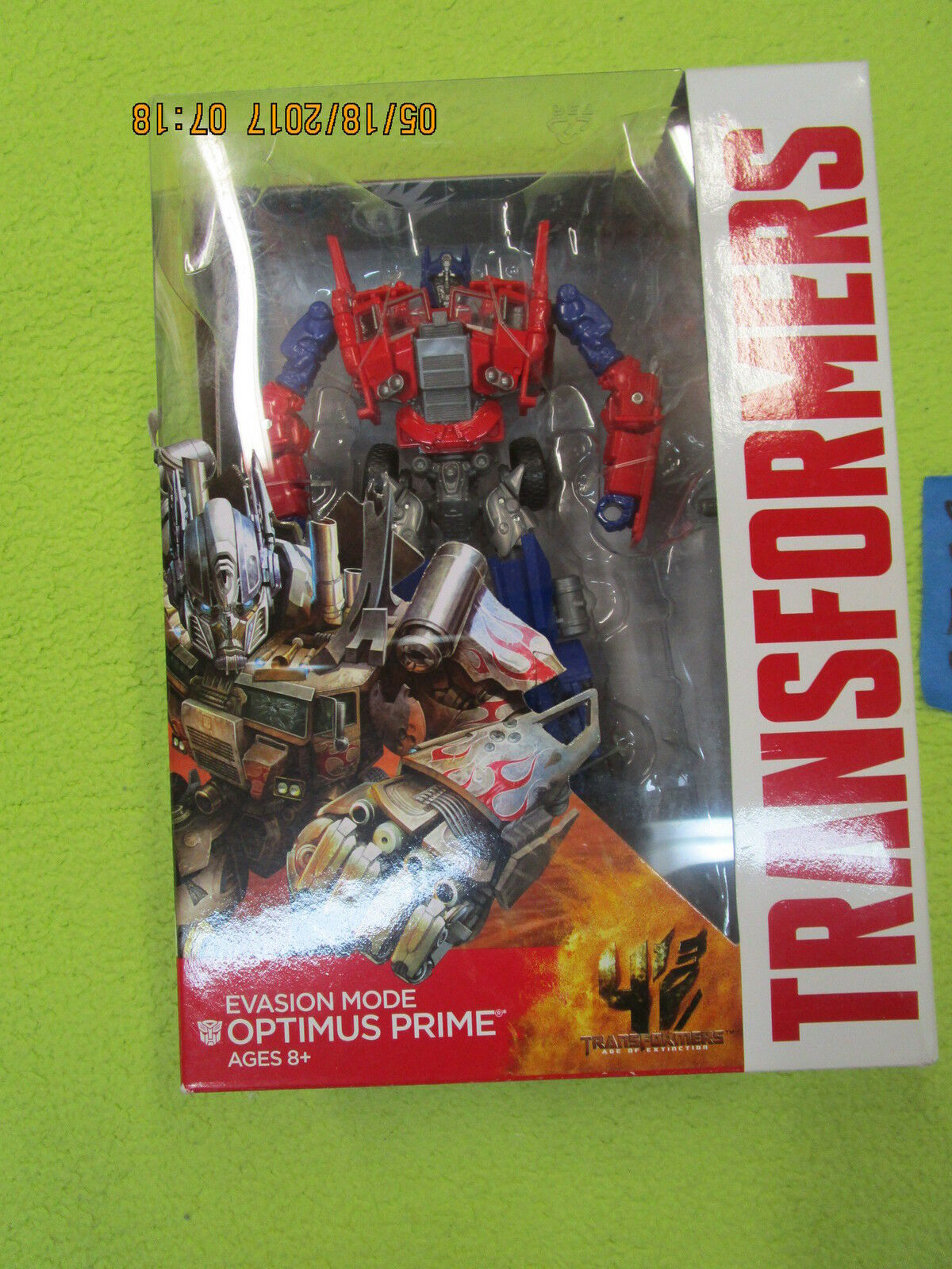 DD10_4 Transformers Movie Lot EVASION MODE OPTIMUS PRIME Voyager Class AOE TF4