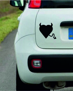 Heart-With-Devil-Tail-Vinyl-Wall-Car-Sticker-Decal-in-8-Colours