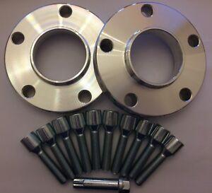 2-X-25mm-SILVER-HUB-ALLOY-WHEEL-SPACERS-10-X-M14X1-25-TUNER-BOLTS-MINI-66-6