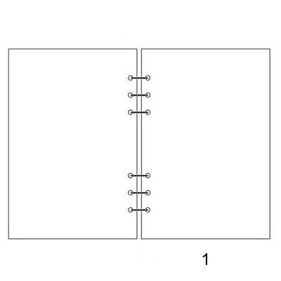 45Pcs Notebook Journal Diary Loose Leaf Filler Paper Manuscript Kraft A5 A6 A7