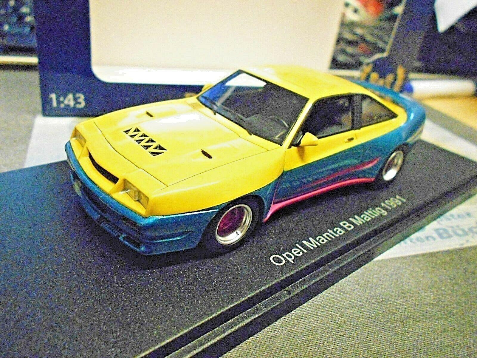 Opel Manta B 400 Mattig Breitbau Tuning tv cinéma Movie 1991 Resin Bos 1 43