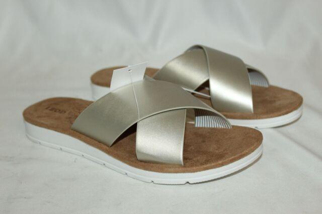BRAND NEW IZOD Women's Alyssa Strap Slide Sandals Gold Size 7.5