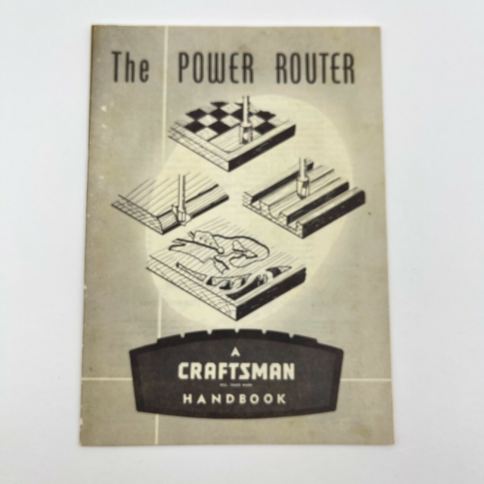 1963 The Power Router Craftsman Power Tool Handbook by Sears