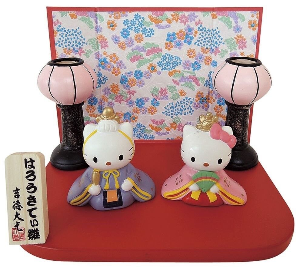 Hello Kitty Daniels polyresin Hina doll From Japan Free Shipping NEW