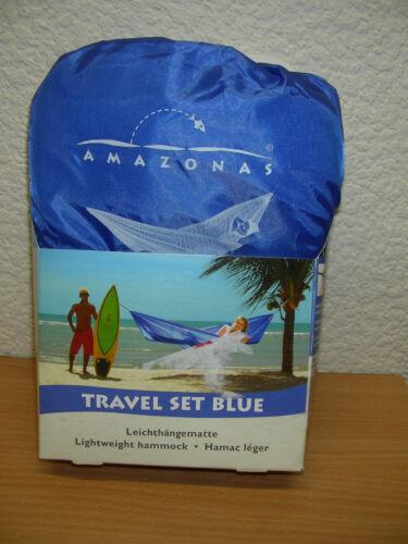 Amazonas Leicht-Hängematte Ultra Light Travel Set blue NEU