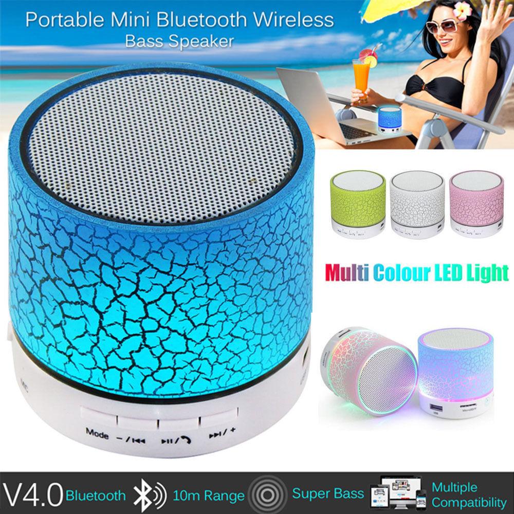 mini bluetooth lautsprecher led mp3 fm radio musik box speaker handy tablet tf ebay. Black Bedroom Furniture Sets. Home Design Ideas
