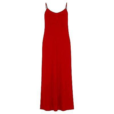 New Ladies Plus Spaghetti Strap Jersey Summer Maxi Dress 8-22