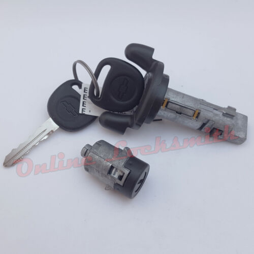 Ignition Switch Cylinder and Black Door Lock Cylinder For Chevy GMC Truck SUV
