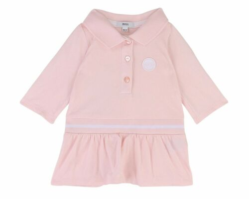 Hugo Boss Baby/'s J92041 44L Long Sleeved Girl/'s Dress Pink