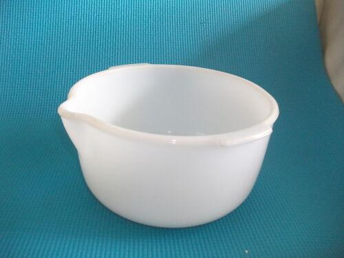 vintage sunbeam  white glass mixmaster mixer bowl medium
