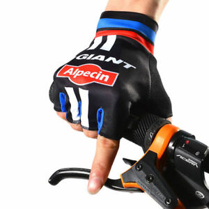 Pro-GIANT-Alpecin-Velo-Sport-Riding-Cycle-Cyclisme-Demi-Doigt-Gants-UK