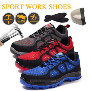 Men/'s Safety Light Work Shoes Steel Toe High Top Boots Indestructible Trainers