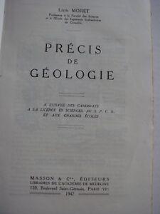 LEON-MORET-PRECIS-DE-GEOLOGIE-1947-EDITEURS-MASSON-amp-C
