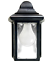 Outdoor-Porch-Light-LED-Bulb-9-034-Black-Fixture-with-Clear-Glass-Panes-458-06 thumbnail 3