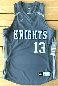 Details about NWT Adidas ClimaLite Polyester Knights 13 Gray Women's Basketball Jersey M