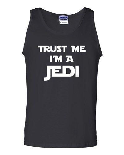 Trust Me I/'m A Jedi Novelty Statement Graphics Adult Tank Top