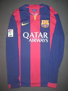 0c2ab4dbd 2014-2015 Nike Authentic FC Barcelona Long Sleeve Home Jersey Shirt ...
