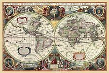1630 Historic Old World Illlustrated Vintage Map - 16x24