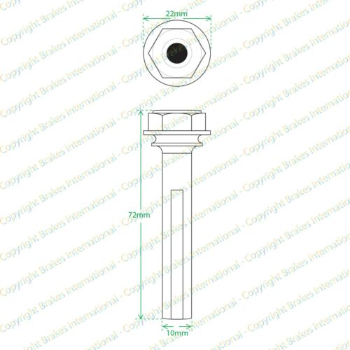 RENAULT LAGUNA MK1 FRONT BRAKE CALIPER SLIDER PINS GUIDE KIT 72x10mm BCF1310B