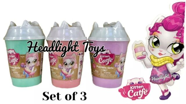 Lot of 2 Series 2 Kitten Catfe Purrista Girls Mystery Packs Cafe Dolls In Hand
