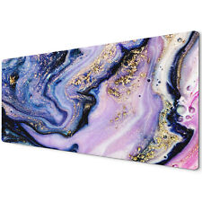 60 X 30cm Extra Large Xl Desk Mouse Pad Mat Gaming Marble Effect Gold Pink
