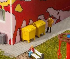 FALLER H0 180913 2 Yellow Trash Bins