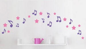 Sterne Wandtattoo 2 Farben Kinderzimmer Folie Aufkleber Star Deko Wunschname
