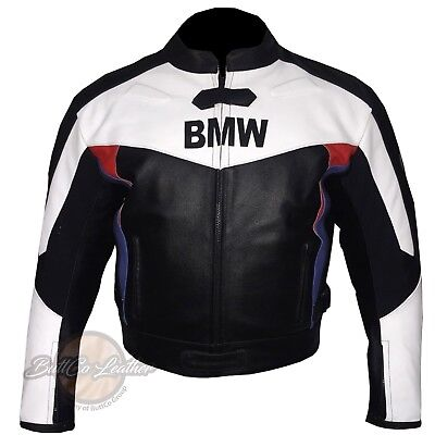 Motorcycle Street Gear White & Black Bmw 3878 Motorbike Biker Leather Jacket Motorcycle Armoured Coat And Digestion Helping Apparel & Merchandise