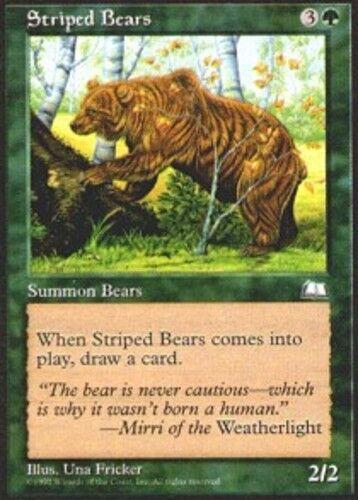 4x Striped Bears MTG Weatherlight NM Magic Regular