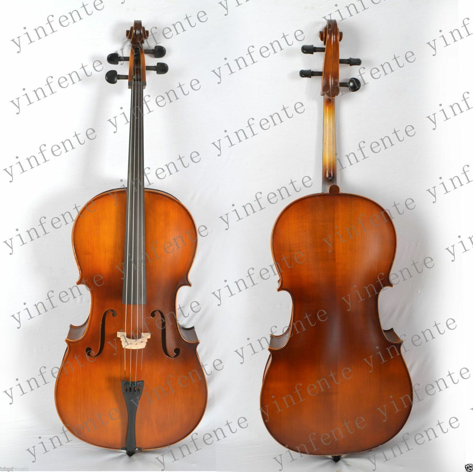Yinfente full size Cello Fine Tone Hand Carve Solid wood New 4 4 Maple Spruce