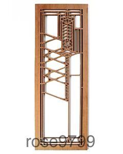 Details About Frank Lloyd Wright Robie House 2 Wood Art Element Wall Panel Cherry Nib