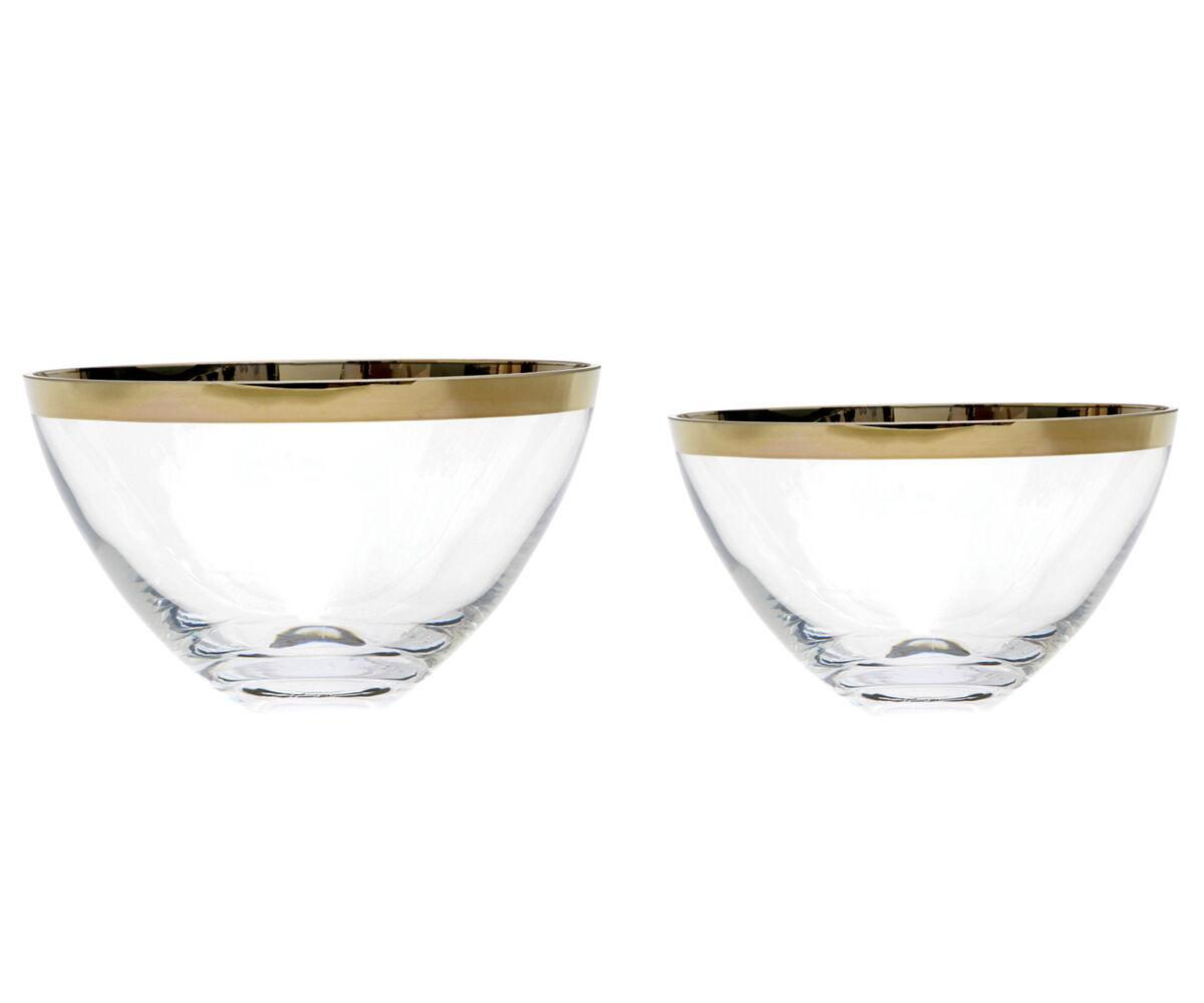 Glasschale Schale Glas Platin Obstschale Kompottschale Schüssel Salatschüssel
