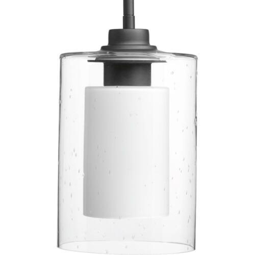 Progress Lighting Double Glass Collection 1-light Graphite Pendant