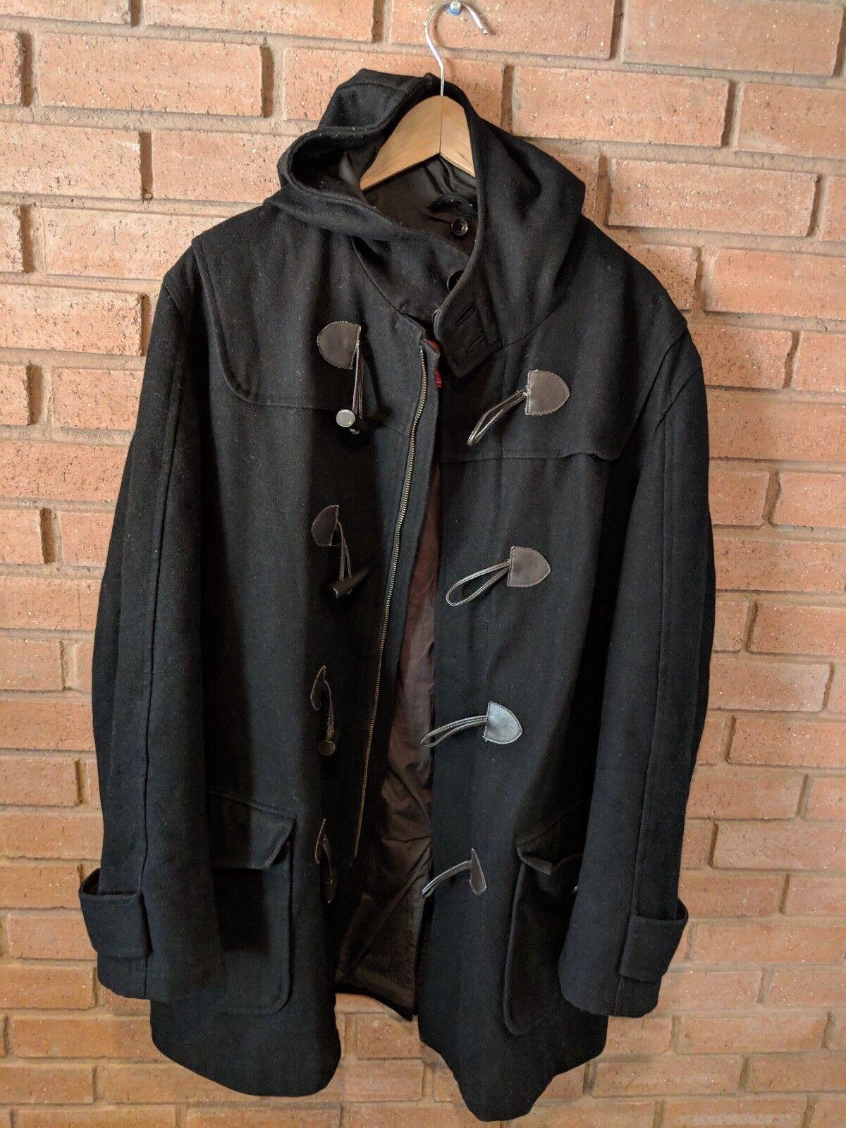 FINSHLEY & HARDING MODERN FIT  Herren MEDIUM (50) Wool Blend Hooded Coat Toggle